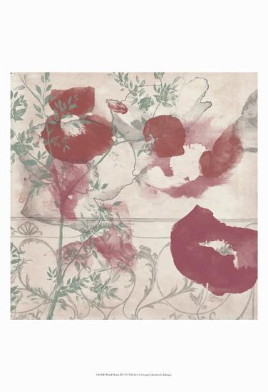 Floral Flutter II-Jennifer Goldberger-Art Print
