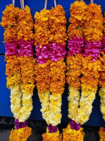 Floral Garland, Tamil Nadu, India-Greg Elms-Photographic Print