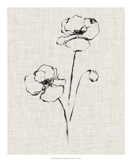 Floral Ink Study III-Ethan Harper-Giclee Print