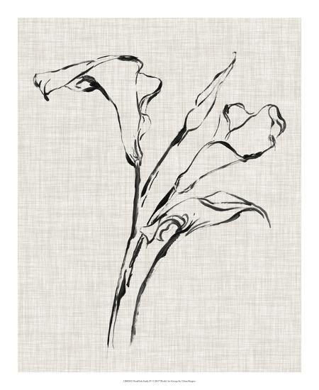 Floral Ink Study IV-Ethan Harper-Giclee Print