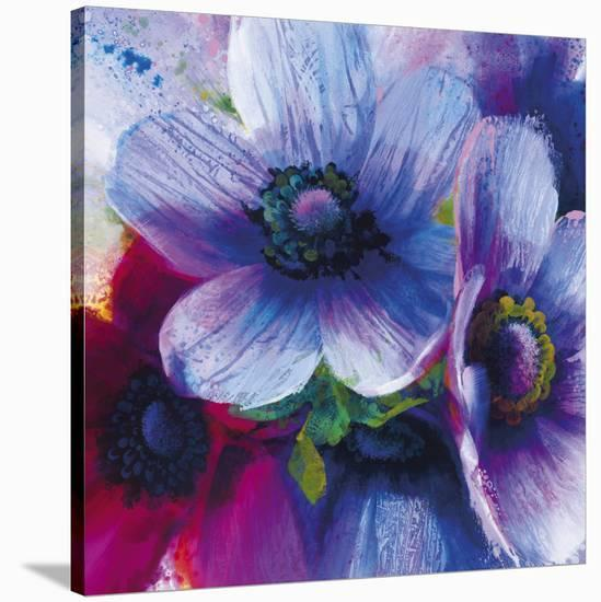 Floral Intensity IV-Nick Vivian-Stretched Canvas Print