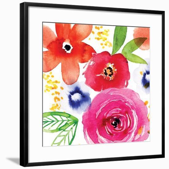 Floral Medley II-Sara Berrenson-Framed Art Print