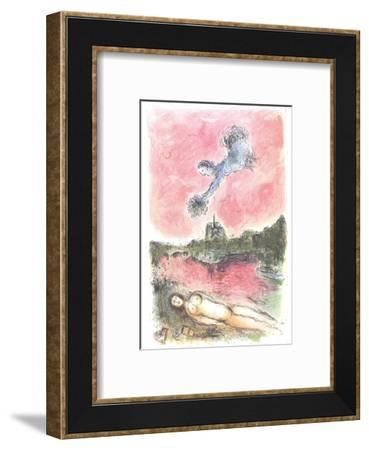 Floral Offering over Paris-Marc Chagall-Framed Premium Edition