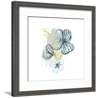 Floral Offset I-June Vess-Framed Art Print