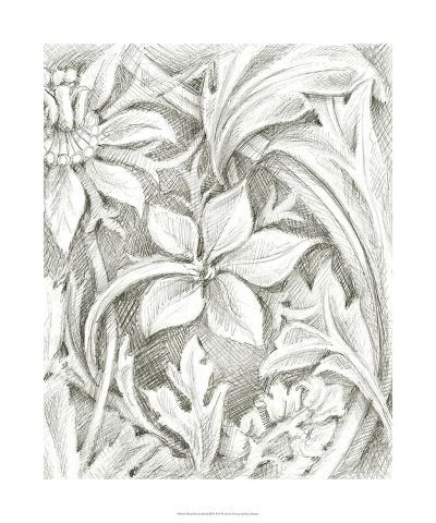 Floral Pattern Sketch III-Ethan Harper-Giclee Print