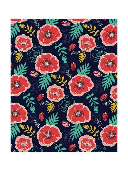 Floral Pattern V-Esther Loopstra-Giclee Print