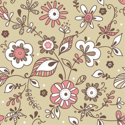 Floral Pattern-lozas-Art Print