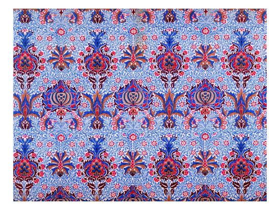 Floral Patterned Wallpaper-William Morris-Premium Giclee Print