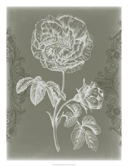 Floral Relief I-Jennifer Goldberger-Giclee Print