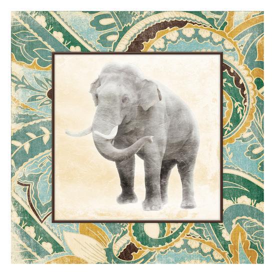 Floral Sea Elephant-Jace Grey-Art Print