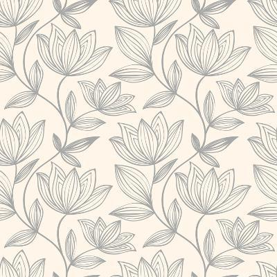 Floral Seamless Pattern Can Be Used for Wallpaper, Website Background, Textile Printing. Hand Drawn- Mespilia-Art Print