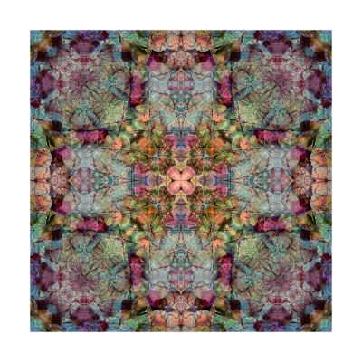 Floral Seashell Cross-Alaya Gadeh-Art Print