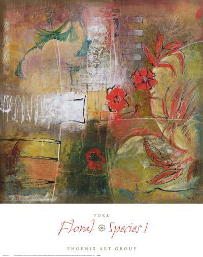 Floral Species I-Josiane York-Art Print