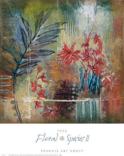 Floral Species II-Josiane York-Art Print