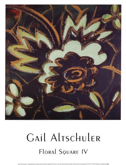 Floral Square IV-Gail Altschuler-Art Print