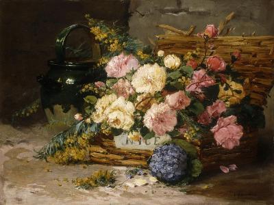 Floral Still Life (Spring)-Eugene Henri Cauchois-Giclee Print