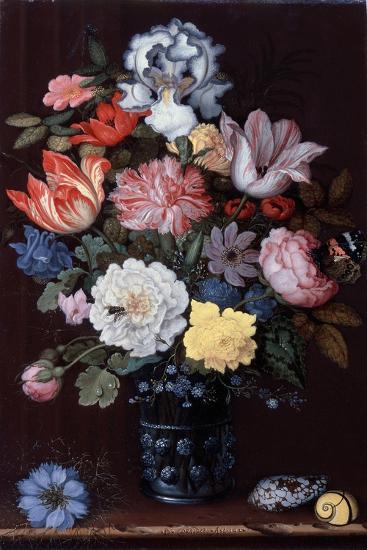 Floral Still Life with Shells, 1622-Balthasar van der Ast-Giclee Print