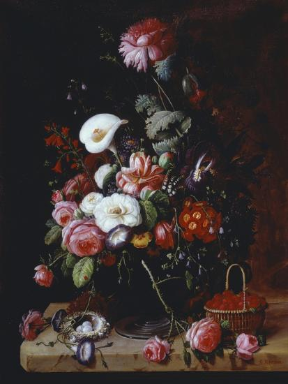 Floral Still Life-Severin Roesen-Giclee Print