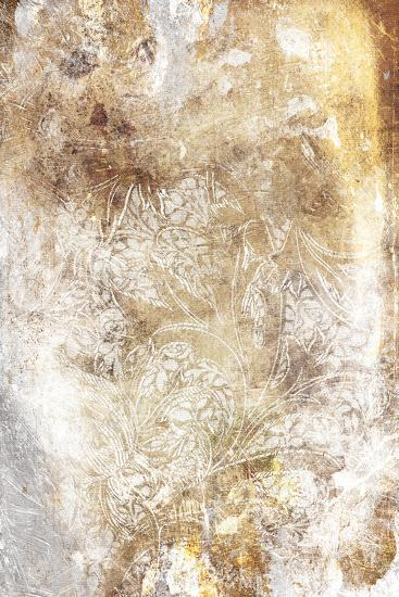 Floral Takeover Gold-Jace Grey-Art Print