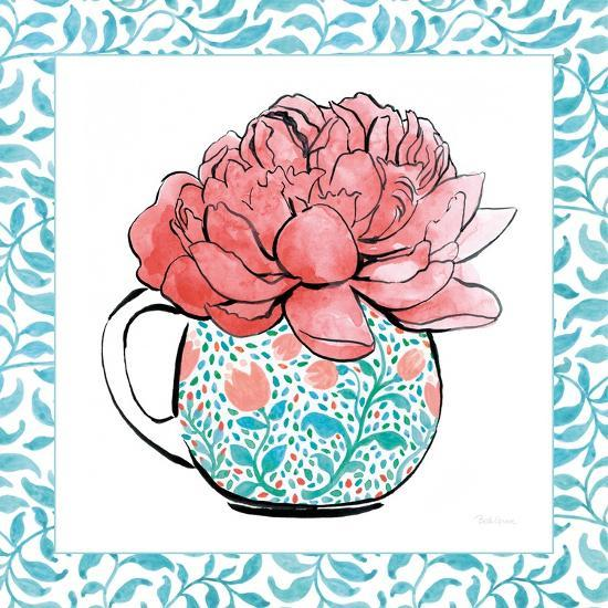 Floral Teacup I Vine Border-Beth Grove-Art Print