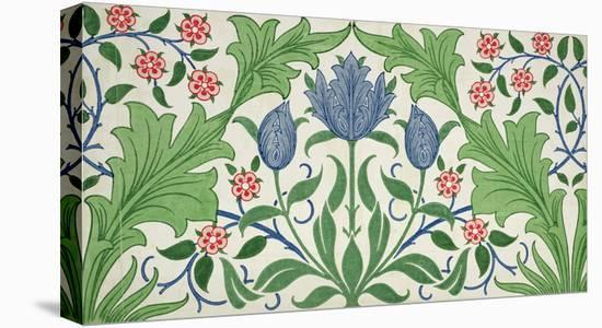 Floral Wallpaper Design-William Morris-Stretched Canvas Print
