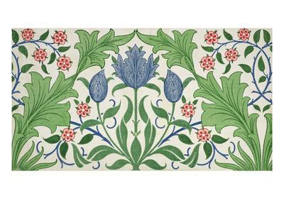 Floral Wallpaper Design-William Morris-Premium Giclee Print