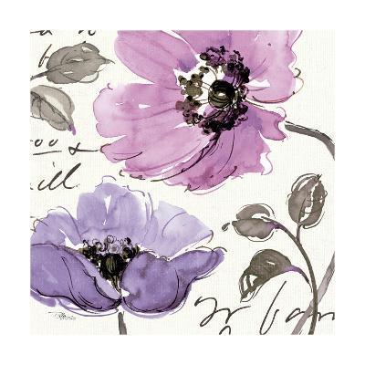 Floral Waltz Plum I-Jess Aiken-Art Print