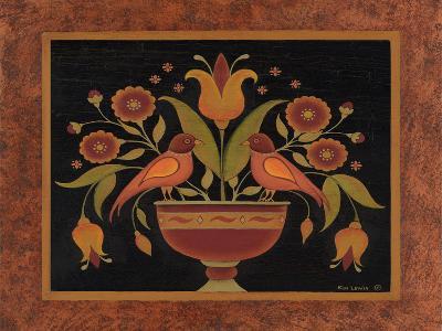 Floral with Birds-Kim Lewis-Art Print