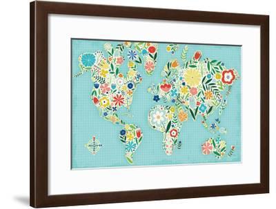 Floral World Blue-Michael Mullan-Framed Art Print