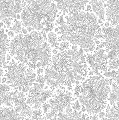 Florals And Leafs Coloring Art