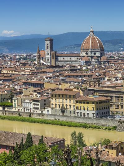 Florence Cathedral And Old Town-Melanie Viola-Art Print