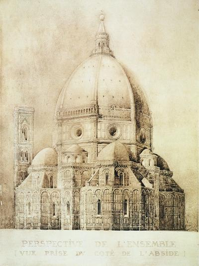"Florence Cathedral from the East, from ""Fragments D'Architecture Du Moyen Age Et De La Renaissance""-Eugene Duquesne-Giclee Print"