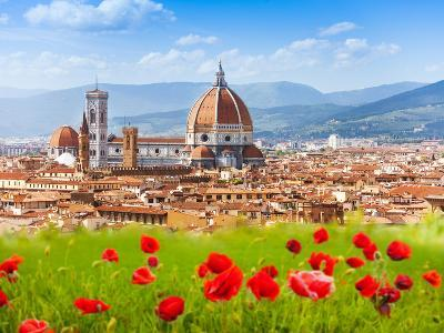 Florence, Duomo and Giotto's Campanile.-SerrNovik-Photographic Print