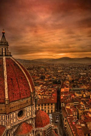 Florence Duomo at Sunset-McDonald P. Mirabile-Photographic Print