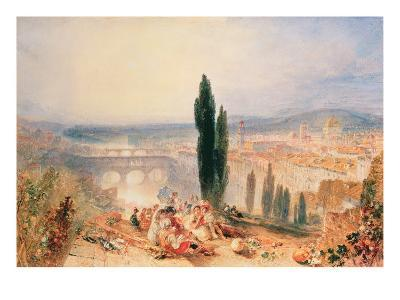 Florence from near San Miniato, 1828-J^ M^ W^ Turner-Giclee Print