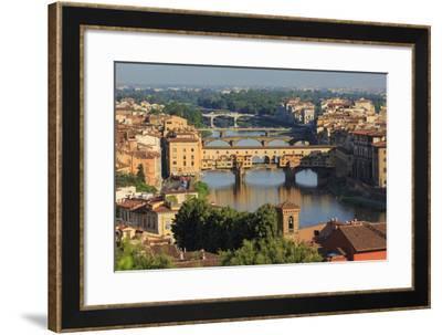 Florence, Italy. Bridges across Arno River.-Ken Welsh-Framed Photographic Print