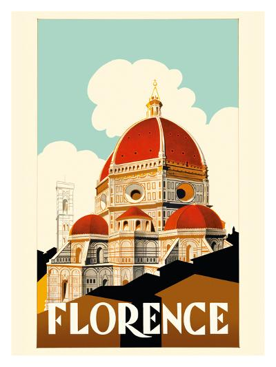 Florence Italy - Santa Maria del Fiore Cathedral, the Duomo of Florence-Pacifica Island Art-Premium Giclee Print