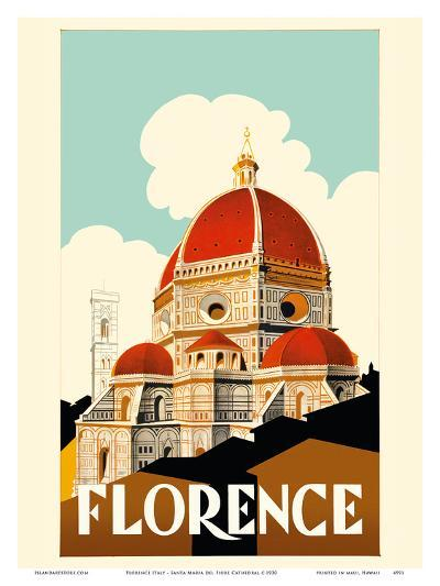 Florence Italy - Santa Maria del Fiore Cathedral, the Duomo of Florence-Pacifica Island Art-Art Print