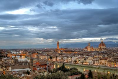 Florence Night Cityscape-Photo by cuellar-Photographic Print
