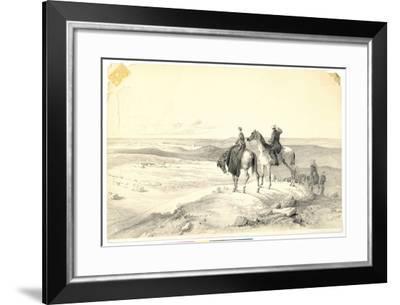Florence Nightingale and Mr Bracebridge on Cathcart's Hill Overlooking Sebastopol on 8th May 1855-Parthenope Nightingale-Framed Giclee Print