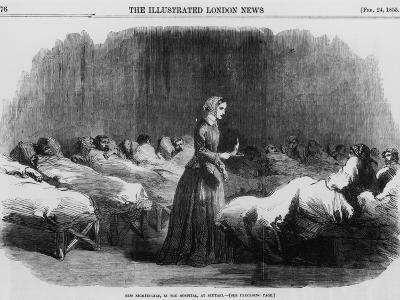 Florence Nightingale, English Nurse and Hospital Reformer, 1855--Giclee Print