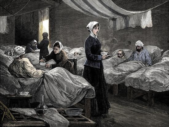 Florence Nightingale in the barrack hospital at Scutari, c1880-Unknown-Giclee Print