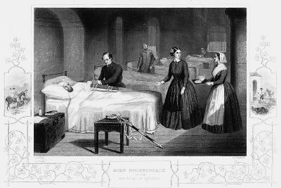 Florence Nightingale in the Hospital at Scutari, C1860--Giclee Print