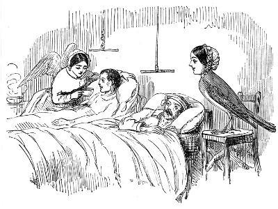 Florence Nightingale Watching a Nurse at Work, 1854--Giclee Print