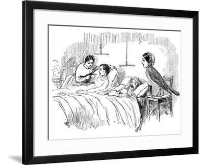 Florence Nightingale Watching a Nurse at Work, 1854--Framed Giclee Print