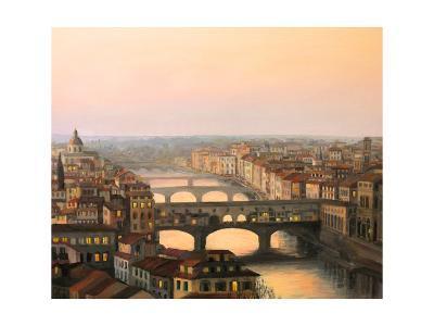 Florence Ponte Vecchio-kirilstanchev-Art Print