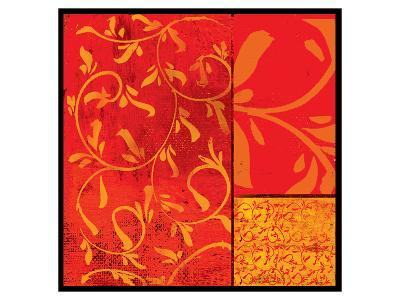 Florence Red Gold-Lillian Pasenar-Art Print
