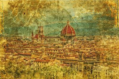 Florence - Retro Style Picture-standa_art-Art Print