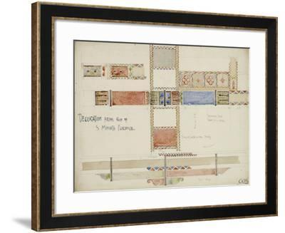 Florence, San Miniato, Studies of Decorative Ceiling Panels, 1891-Charles Rennie Mackintosh-Framed Giclee Print