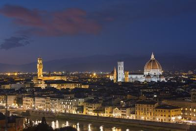 Florence Skyline at Sunset.-Jon Hicks-Photographic Print